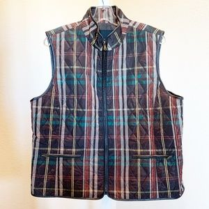 Talbots Quilted Plaid Vest   696